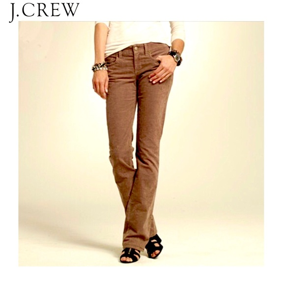 new season terrific value bright in luster J. Crew City Fit Brown Corduroy Jeans Pants in 26S